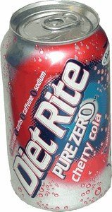 Diet Rite Pure Zero CHERRY Cola drink