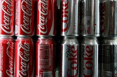 coca-cola classic & diet coke soft drink 330ml.