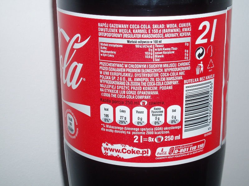 Coca Cola 2 L