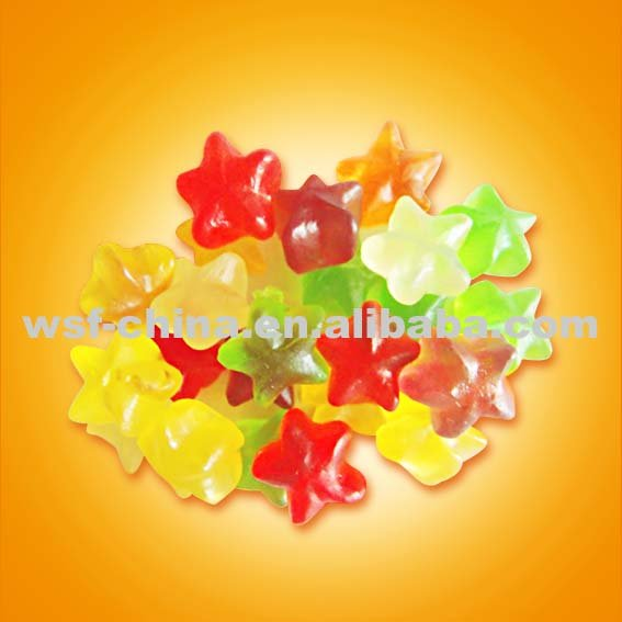 star shape gummy  candy