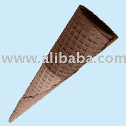 Sugar rolled cones, ice cream cones, biscuit and wafer cones,