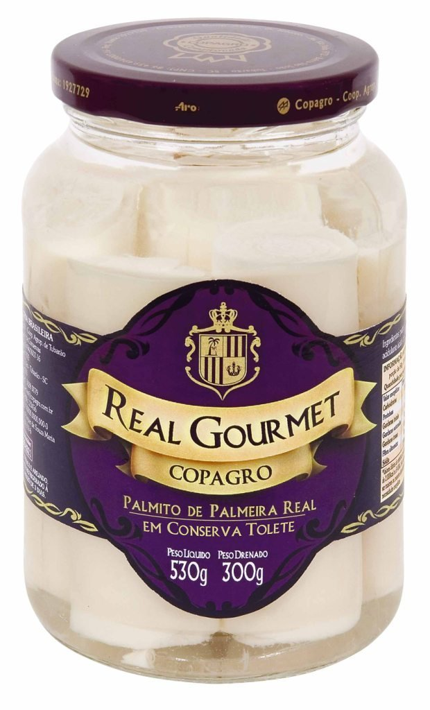 Hearts of Palm Real Gourmet - Tolete - 0,3Kg