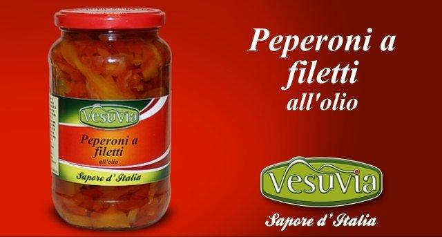 Red Pepper in oil - Peperoni a filetti sott'olio