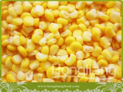 canned sweet corn in can