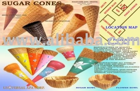 Wafer And Sugar Ice Cream Cone