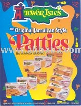 9 Pack Frozen Mild Beef Jamaican Meat Patties-Retail