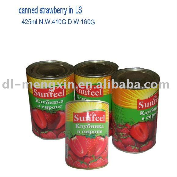 canned strawberry in light or high syrup 410g