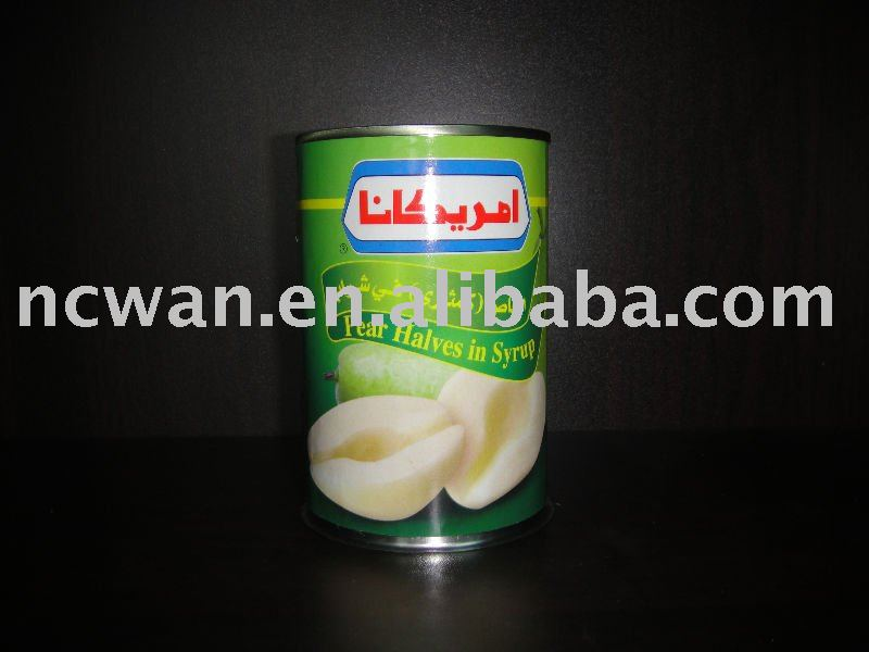 Canned Pear in syrup, halves, 425g, canned food
