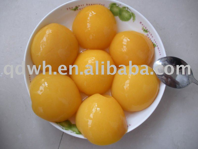 Canned peaches halves in light syrup
