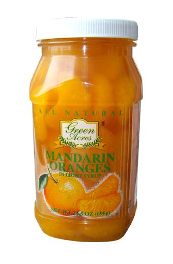 Mandarin Oranges in plastic jar