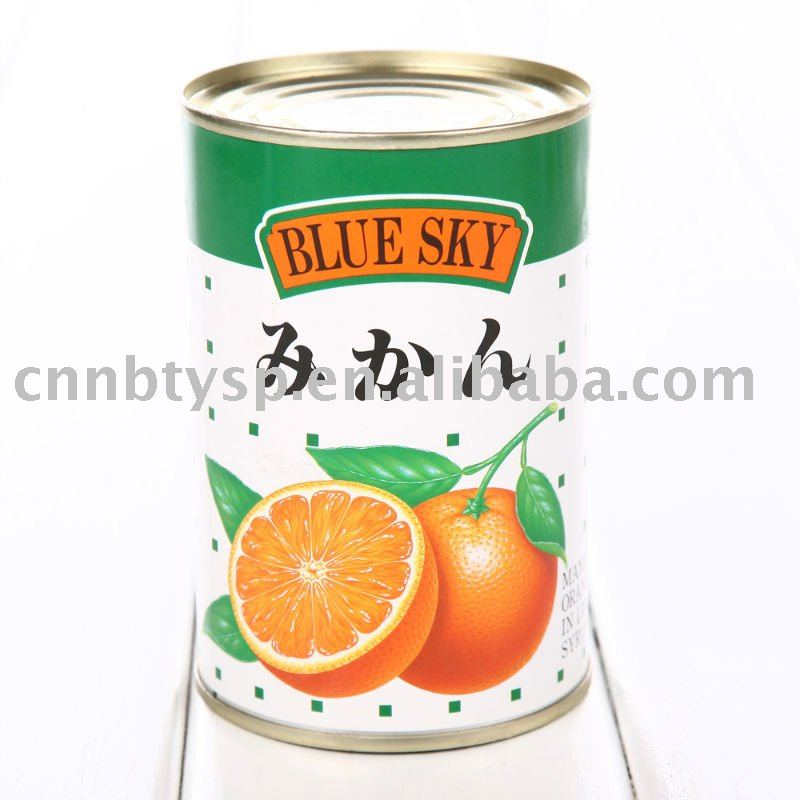canned fruit- mandarin orange