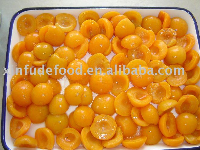 preference grade canned apricots in light syrup 3000g*6tins