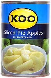 Koo Sliced Pie Apples, Unsweetened ( Canned Fruit )