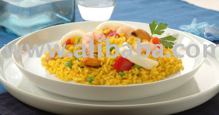 Paella stir-fry, mixed, vegetable and Seafood (frozen)