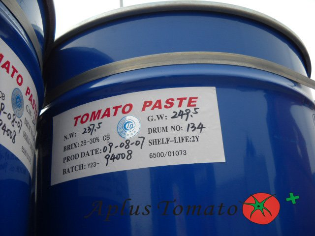 Can/Drum/steel Iron drum tomato paste, Brix28/30% CB/HB, aseptic bag packing