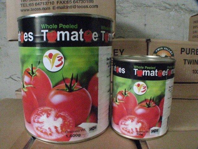 whole peeled tomato (v3 brand)  (1. 6kg)  (450g)