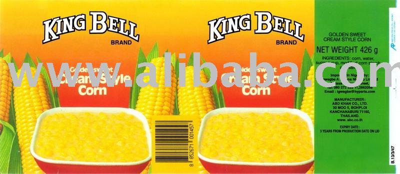 Cream Style Corn - 15 oz (425 gms) x 24