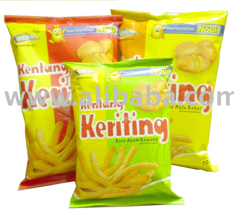 ALOHA Kentang Keriting snacks