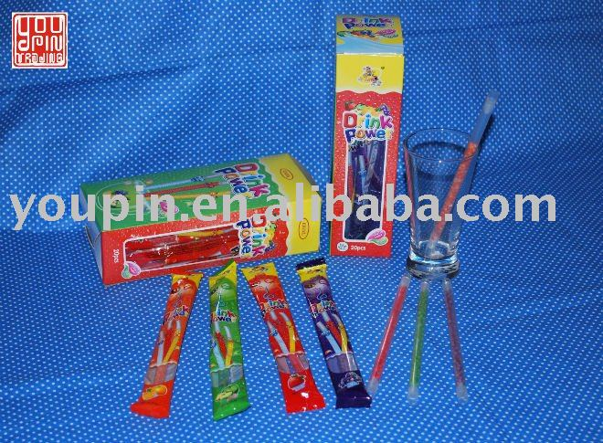 Drink Power Fruit Flavoring Straws Candy