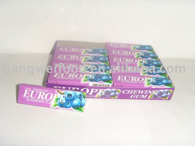 5 stick Chewing gum(blueberry)