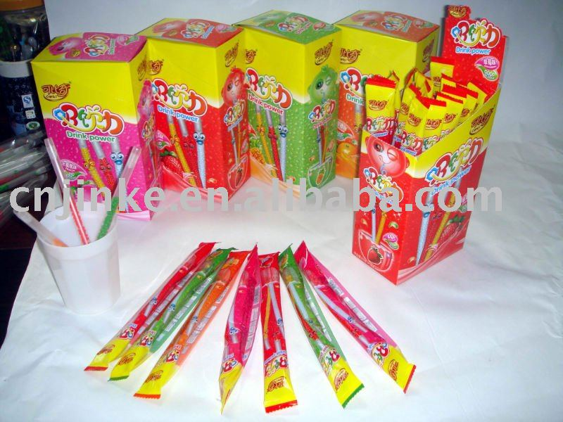 drink power fruit flavoring straws