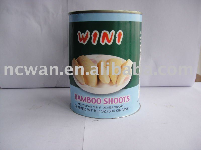 Canned Bamboo Shoots, half, 552g, canned food