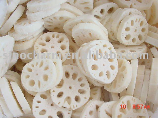 frozen lotus root sliced