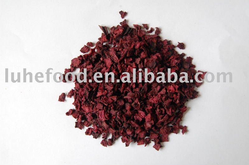 Dried red beet root