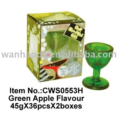 Green   Apple  Flavour Candy Cup