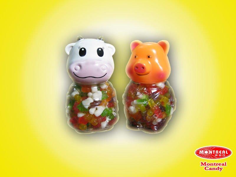 Toy bottle gummy candy