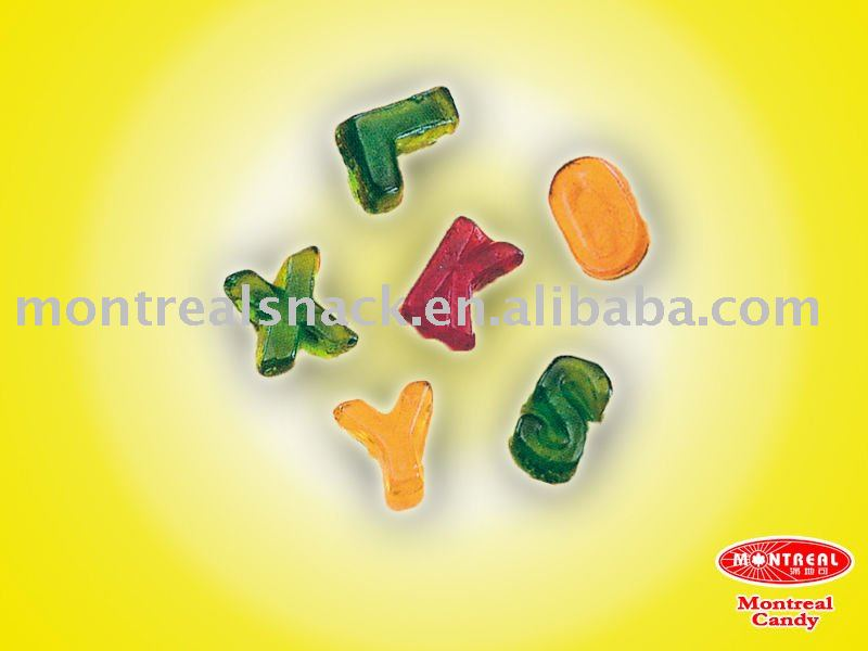 Letter Shape Jelly Candy