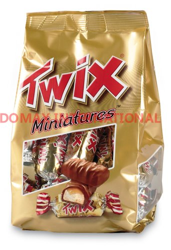 Mars Twix Caramel Cookie Chocolate Bar Miniature 20LB