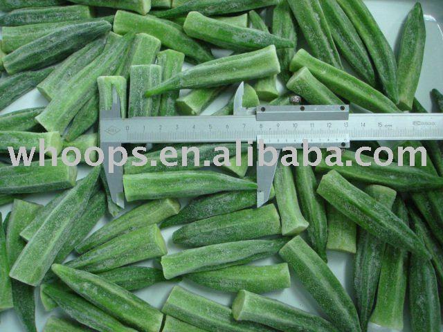 Healthy IQF frozen okra
