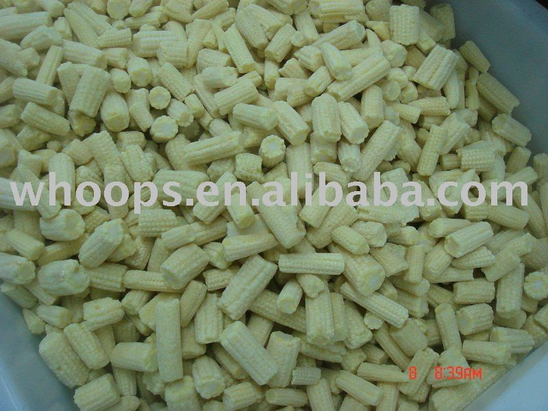 IQF frozen baby corn cut