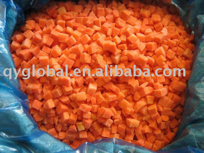 HOT Sell IQF Carrot Dices(FDA,BRC,HACCP)