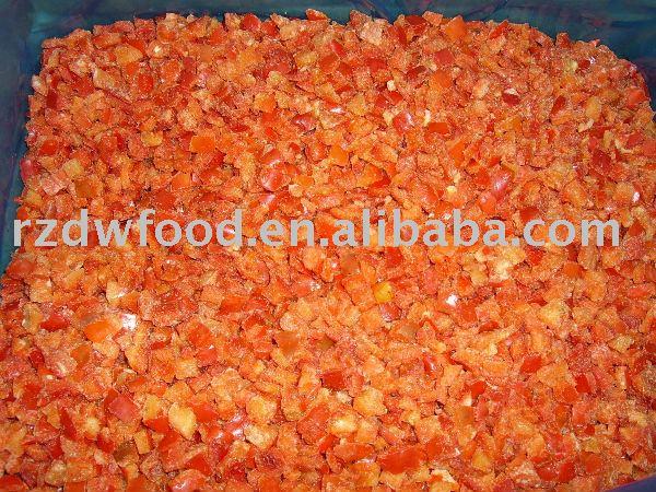 замороженный нарезанный кубиками красный перец