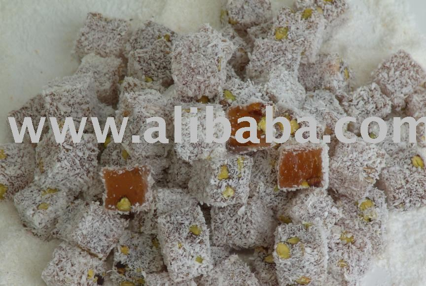 ESRA DOUBLE ROASTED  TURKISH   DELIGHT  WITH  PISTACHIO S AND COCONUT