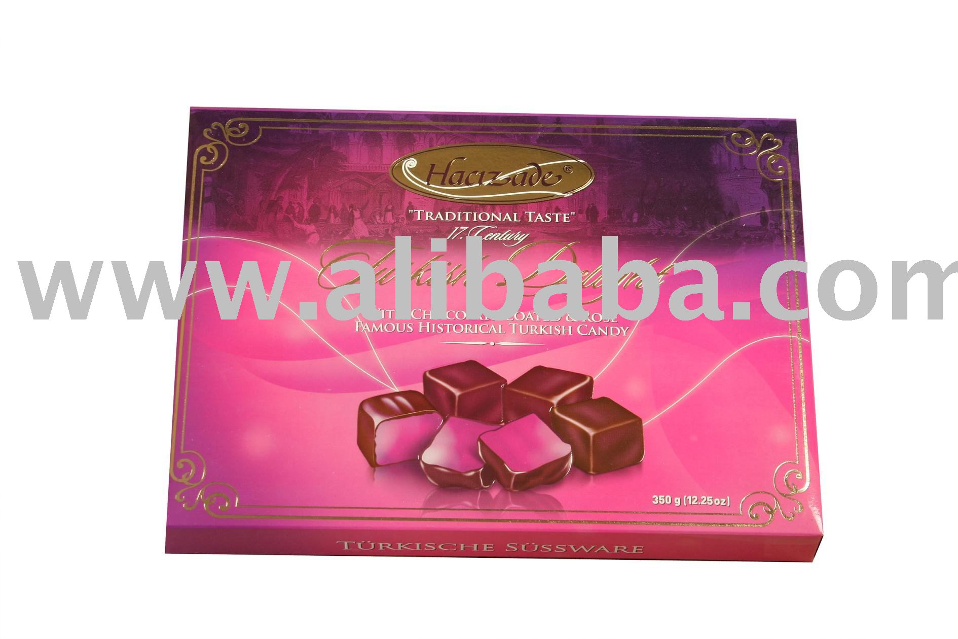 TURKISH DELIGHT CHOCOLATE COATED ROSE candy
