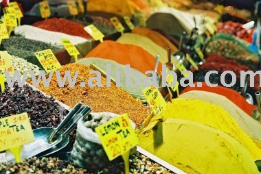 All types of Spices and Condiments and herbs ready for sale now in stock