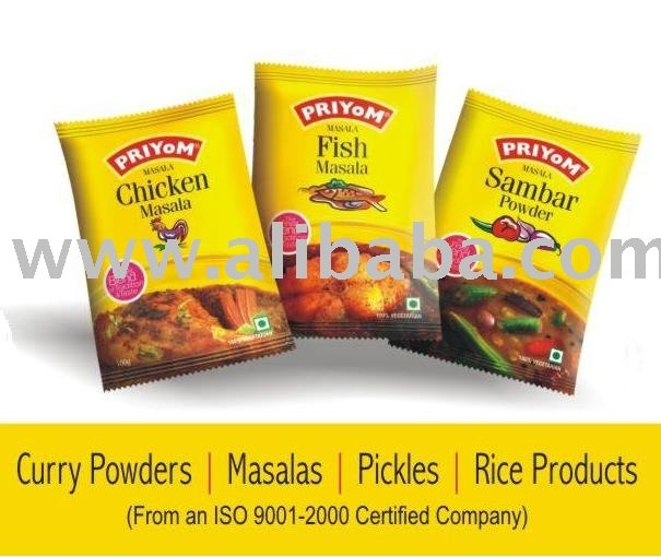 Curry Powders, Masalas, Pickles, Rice Products