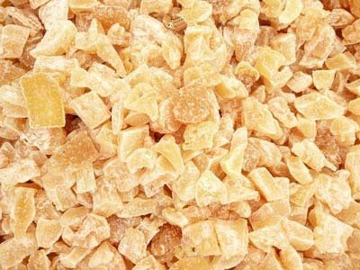 Organic candied and crystallized ginger