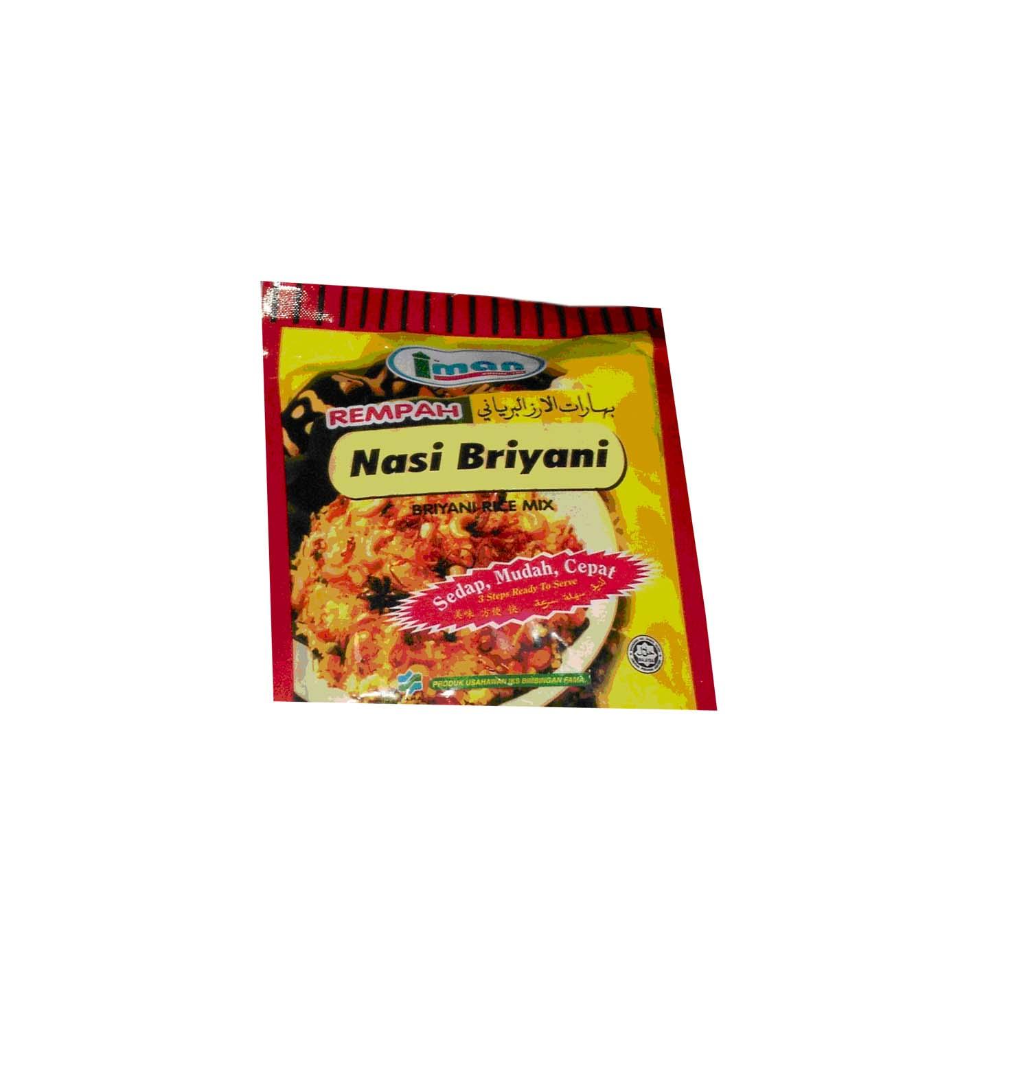 Spices  :    Rempah Nasi Briyani