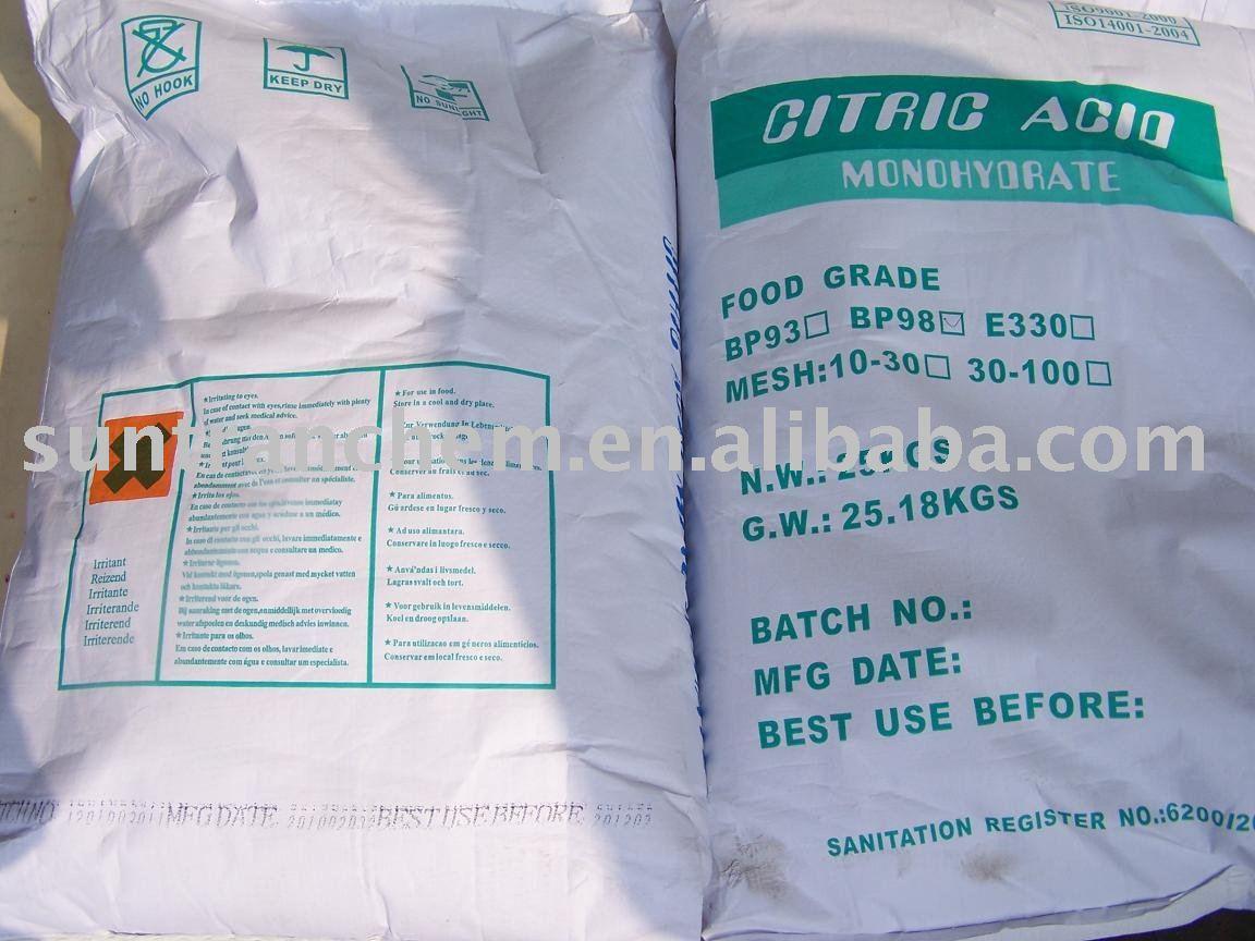 Citric Acid/ Sodium Citrate BP 98 Grade