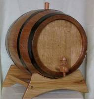 Small wooden oak wine casks, barrels and kegs