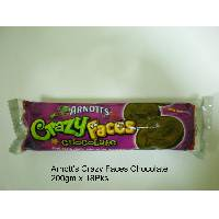 Arnott's Crazy Faces Chocolate Biscuit