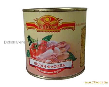 CANNED WHITE KIDNEY BEANS IN TOMATO PASTE 425ML