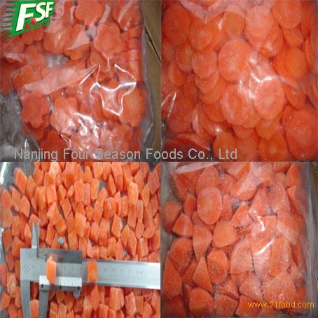 Новый урожай моркови IQF нерегулярные ломтики (свежие)