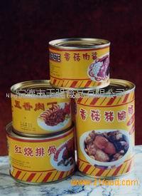 canned pig knuckle with mushroom