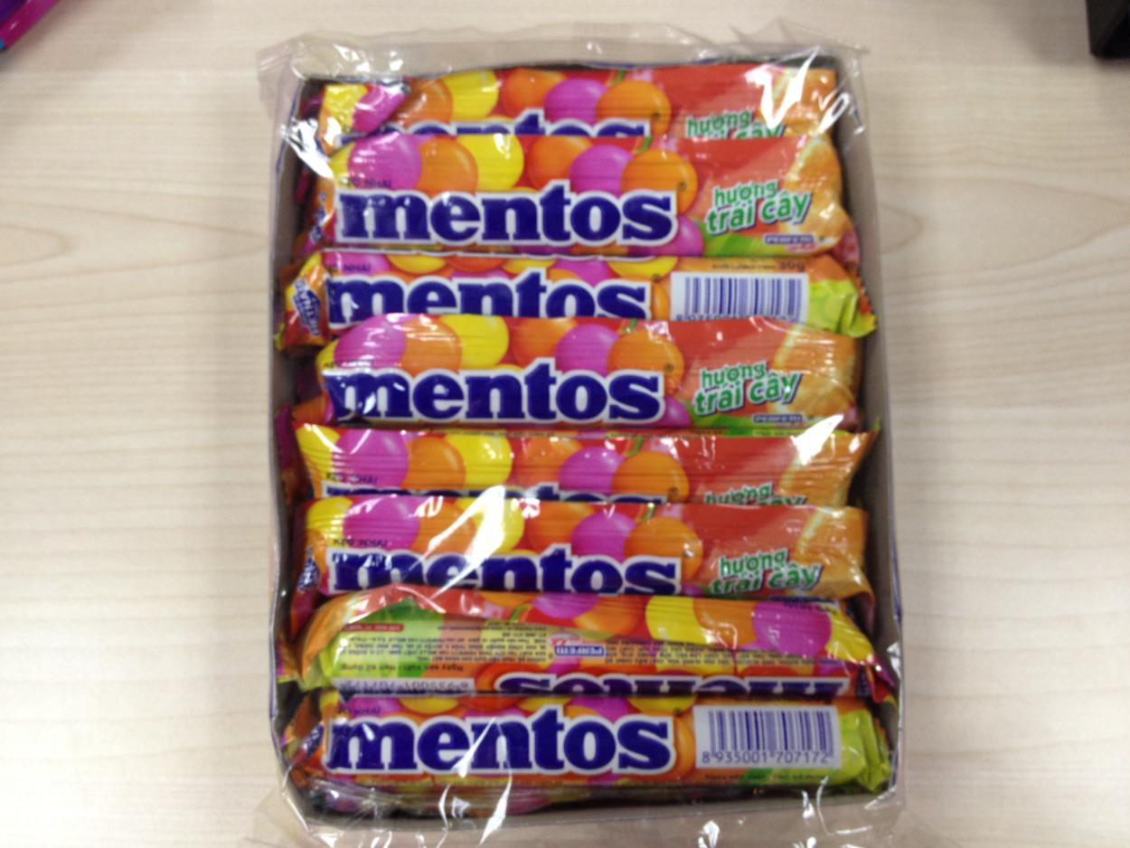Mentos Rainbow Roll Mentos Candy Fruit 16 Rolls