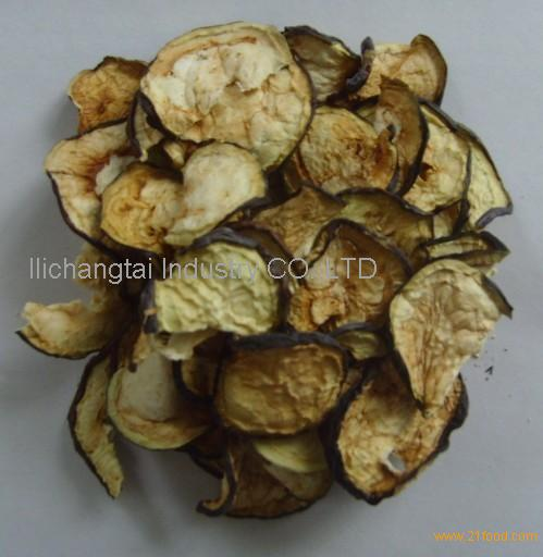 Dehydrated eggplant flakes